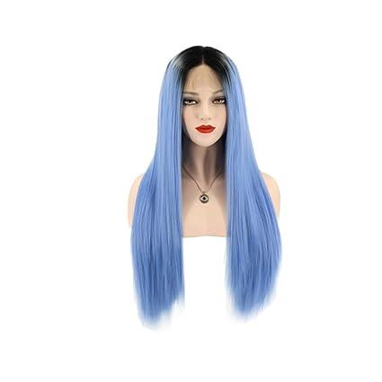 Lurrose peluca de pelo largo y recto elegante peluca de pelo ...