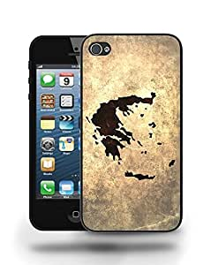 Greece National Vintage Country Landscape Atlas Map Phone Case Cover Designs for iPhone 4