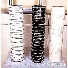 SU@DA Black and white lines imitation ceramic floor large vase modern living room decorated Decoration , big , picture