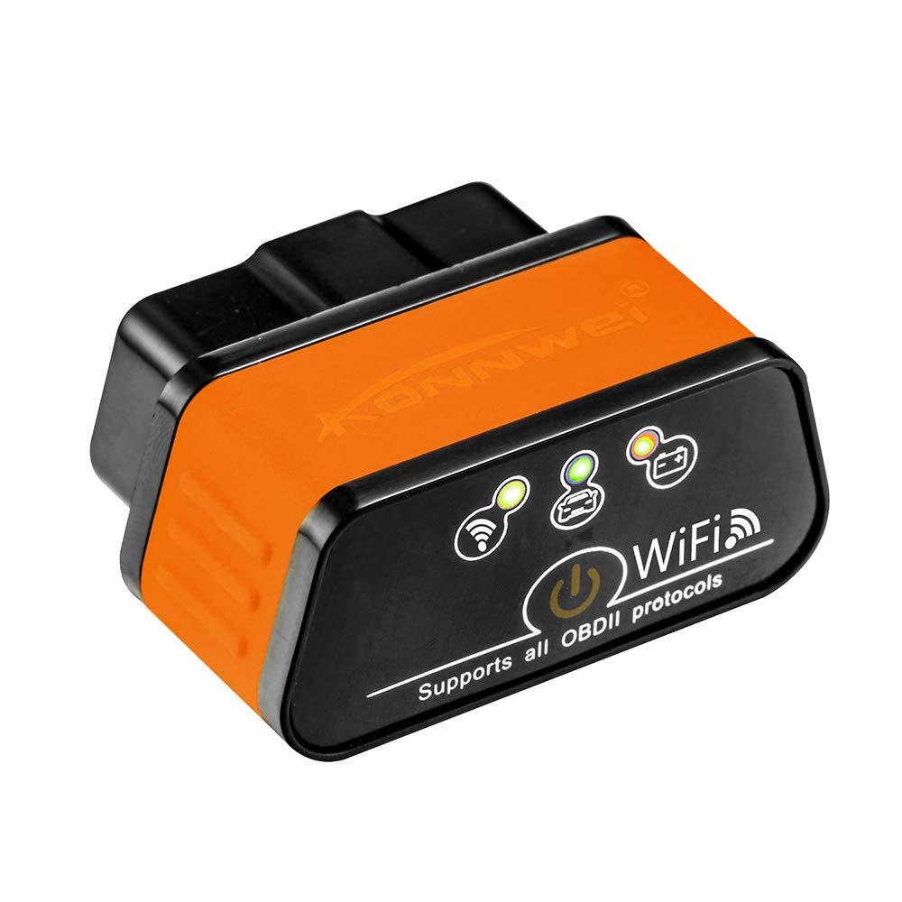 KONNWEI KW903 WiFi OBDII Scanner Diagnostico per Auto Adattatore Lettore di Codice Strumento di Scansione Diagnostica Adatto per Telefono Android PC Auto Code Scanner Nero