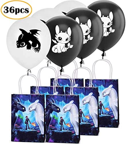 How To Train Your Dragon 3 Birthday balloons And Bags Party Supplies Favor for Kids Boys and Girls-36pack