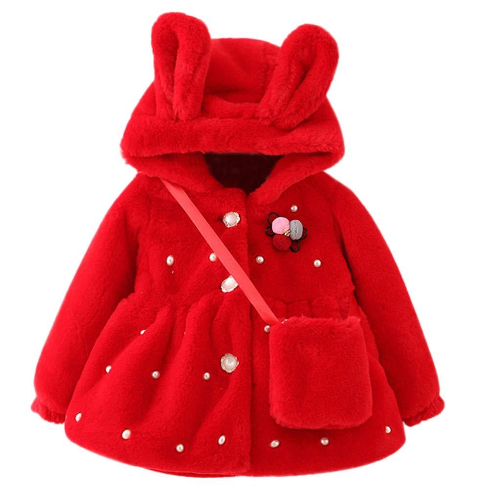 HEETEY Baby Mä dchen Wintermantel Kunstpelzmantel Dicke Flusen warm Dicke Plus Mantel Oberbekleidung Steppjacke Kapuzenjacke