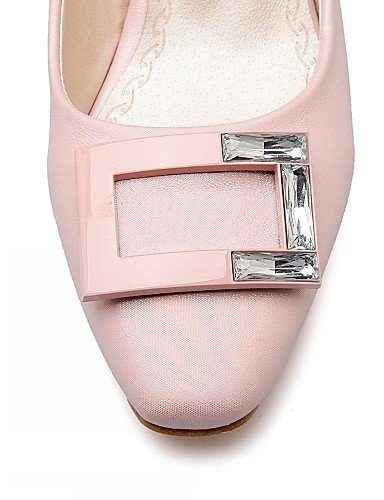 GGX/ Damenschuhe-High Heels-Büro / Kleid / Lässig-Mikrofaser-Blockabsatz-Absätze-Rosa / Weiß / Grau / Beige gray-us5 / eu35 / uk3 / cn34