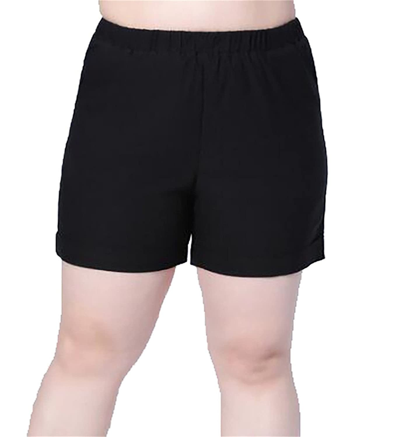 f3f68c21ed durable modeling YUELANDE-Women Plus Size Solid Boardshort Swim Shorts  Bottom