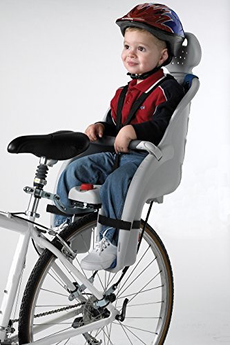 Schwinn Deluxe Bicycle Mounted Child Carrier/Bike Seat, Features 3-Point Harness, Adjustable Headrest, and Padded Crossbar, Mounts Easily on Bicycle's Rear Wheel, For Children, Toddlers, and Kids