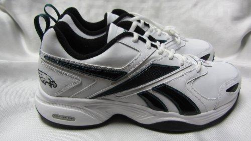 Philadelphia Eagles Mens Size 10 1/2 Pro Evaluate Trainer White Green Black Shoes Sneakers AMZ-R (Reebok Philadelphia Eagles Shirt)