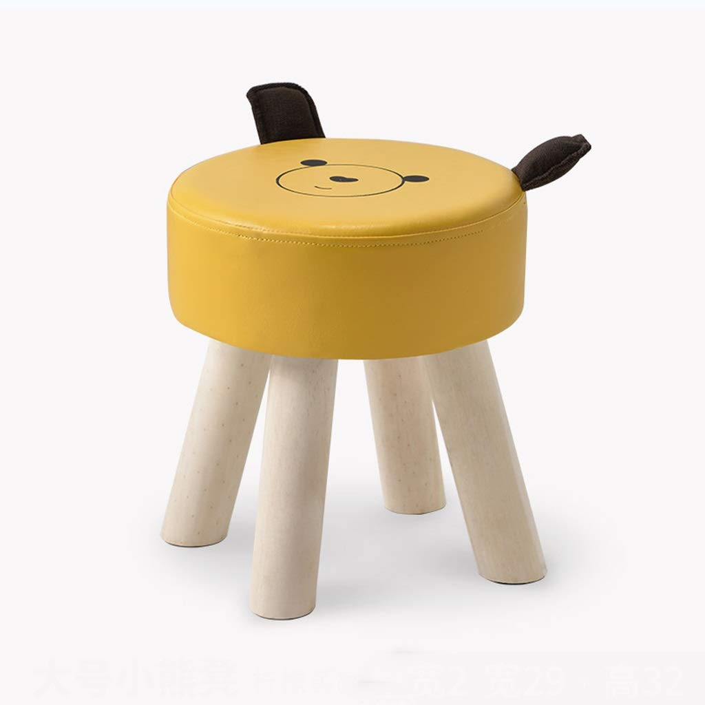 CHY Stool Kids Chair Cartoon Design Stool for Indoor and Outdoor Use, Portable Chair Sofa Chair for Kids and Adults (Color : Yellow) by CHYfootstools