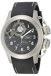 Hamilton Men's H77746333 Frogman Black Dial Watch