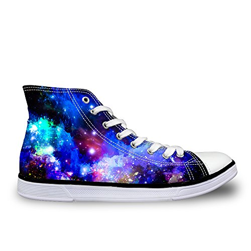LedBack High Top Galaxy Canvas Shoes For Women Causal Sneakers Teenagers Girls Lightweight 3D Trainers Design 2
