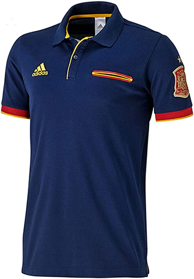 adidas Hombres Camiseta España Fútbol Polo, Armada, 2XL: Amazon.es: Ropa y accesorios