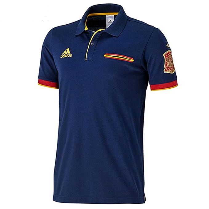 Adidas Hombres camiseta España Fútbol Polo, la Marina, S: Amazon.es: Ropa y accesorios
