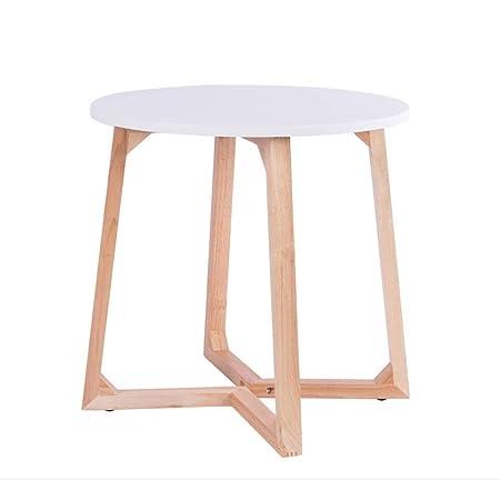 Folding table Nan Mesa Auxiliar Redonda, Material de Madera Maciza ...