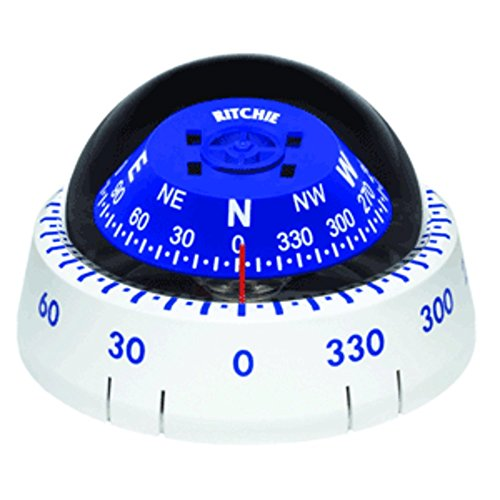 - Ritchie XP-99W Kayaker Compass - Surface Mount - White Marine , Boating Equipment