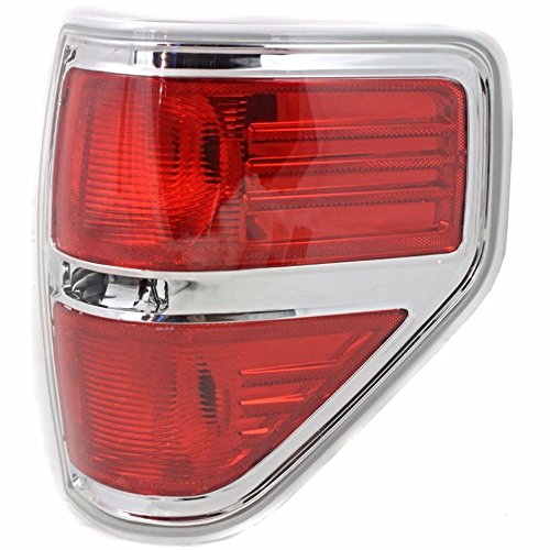 Fits for 09-14 Ford F150 Styleside Right Passenger Tail Lamp Unit Assembly w/Chrome Trim