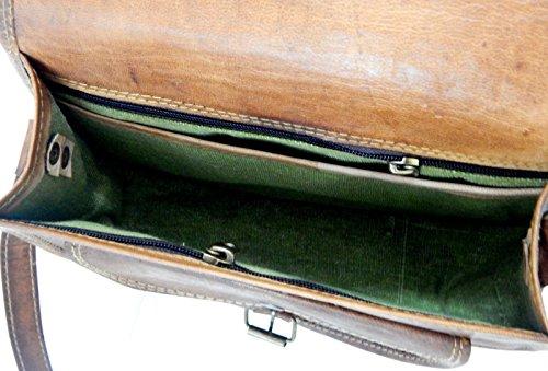Shakun Leather Womens Vintage Genuine Brown Cross Body Bag, NEW