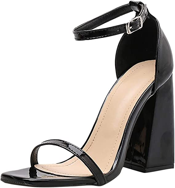 LinLink Classique Sandales à Talons Carré Chaussures de Été