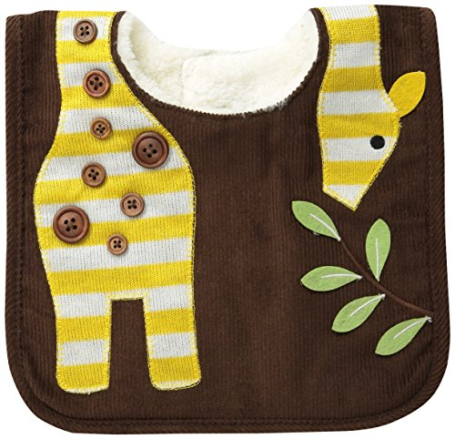 Mud Pie Unisex-Baby Newborn Safari Bib Giraffe, Brown, One Size