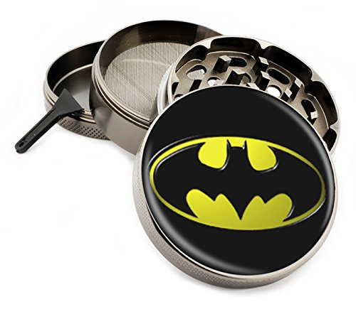 Star Wars & Superhero Themed 4 Layer Herb Grinders with Bonus Scraper (Batman) (Herb Bat)