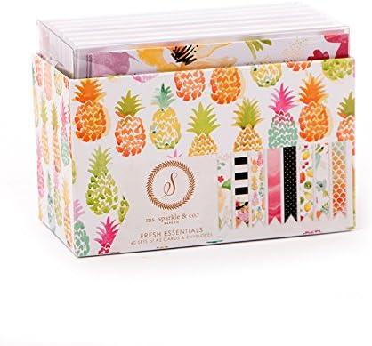 """Paperie 4.25/"""" x 5.5/"""" A2 Cards Envelopes Silver Solids Set Kit Ms Sparkle /& Co"""