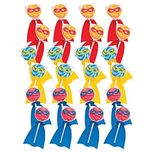Fun Express 24 Count Superhero Swirl Pop Set