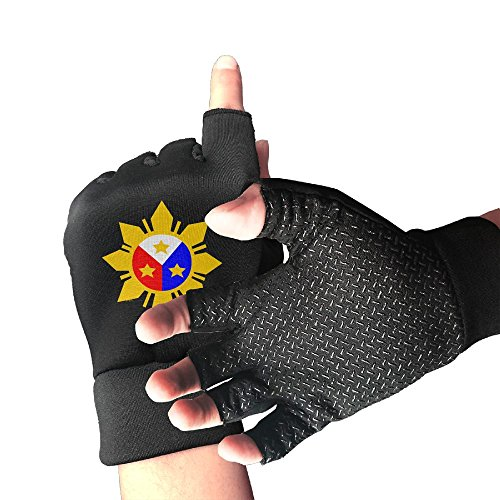 Philippine Flag Half Finger Sports Exercise Gloves Men's/Women's Outdoor Sports Anti-slip Gloves (Parts Of The Philippine Flag And Its Meaning)