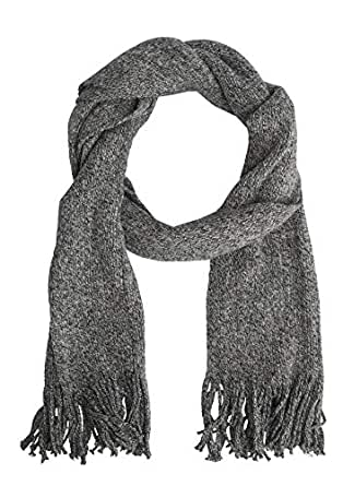 Tarocash Men's Helsinki Textured Scarf Grey Marle 1 for Going Out Smart Occasionwear