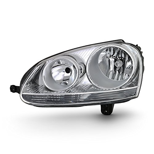 For 06-09 VW GTI Rabbit Jetta R32 MK5 Chrome Housing Factory Style Headlight Lamps (Driver Left Side Only)