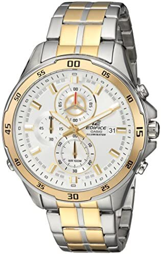 Casio Men s Edifice Quartz Watch with Stainless-Steel Strap, Two Tone, 21.66 Model EFR547SG-7A9V