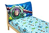 Disney Toy Story Power Up 2 Pack Fitted Sheet and Pillowcase Toddler Sheet Set, Blue/Green Reviews
