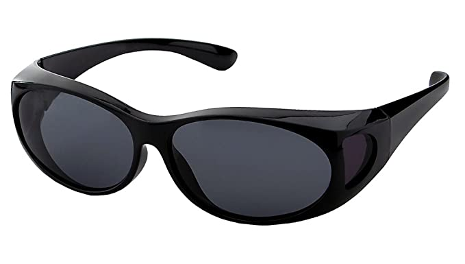 860b0864d4 LensCovers Wear Over Sunglasses Small Black with Smoke Lens - Fit Over Style