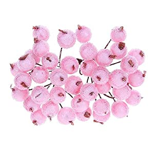 Artificial Dried Flowers - 40 Heads Mini Berry Stamen Artificial Flower Scrapbook Decoration Home Diy Wreaths Craft Flowers - Dried Flowers Artificial 114