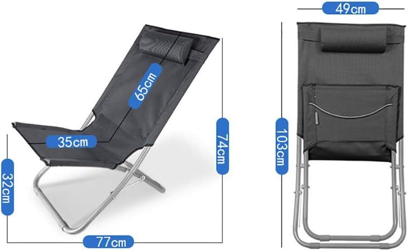 softneco Leichte Langlebige Liege Für Outdoor Picknick Home Nap,Komfortabel Camping Liegestuhl,Tragbar Klappstuhl Mit High Back I