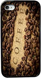 Coffee Beans with Coffee inscripted on Bean Sack Design Personality Silicon PC Luxury Cover Case Cover For SamSung Galaxy S6 (Black) By ALL MY DREAMS!!