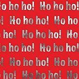Jillson Roberts 24 Sheet Count Ho-Ho-Ho Christmas Printed Tissue, Multicolor