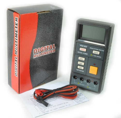 Price comparison product image Megohmmeter Insulation Resistance Tester Meter VC60B Megohm 9V DC1000V