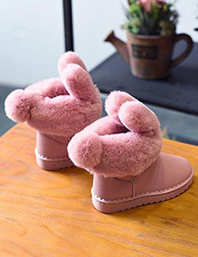 cooshional Schneestiefel Kinder Mädchen Jungen Winter Schnee Boots Warm Outdoor Schuhe Rosa