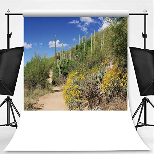 Hiking Trail in Bear Canyon in Tucson Photography Backdrop,AZ for Photography,Flannelette:5x7ft