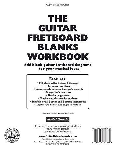 Amazon the guitar fretboard blanks workbook 648 blank guitar amazon the guitar fretboard blanks workbook 648 blank guitar fretboard diagrams up to the 15th fret for your musical ideas workbook series sciox Gallery