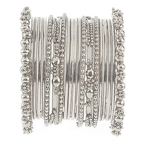- Efulgenz Boho Vintage Antique Ethnic Gypsy Tribal Indian Oxidized Silver Plated Bracelet Bangles Set Jewelry (20 pc)