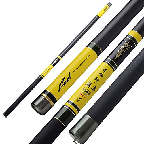 (GONGFF 8M-20M Telescopic Rod High Carbon Portable Ultralight Pole 28 Tonal Stream Rod Carp Fishing)