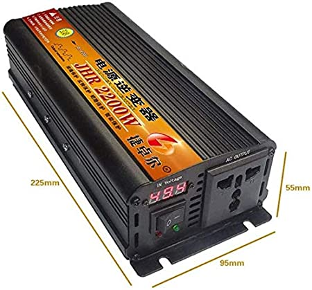 Color : 1200w, Size : 36V LCX Power Inverter 500W 1200W 1700W 2200W 3000W 4000W Power Inverter Dual-AC Outlets DC 36V 48V 60V 72V bis 220V AC Auto-Konverter Power Inverter