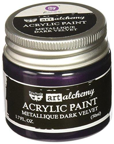 Prima Marketing 963125 Finnabair Art Alchemy Acrylic Paint, 1.7 fl. oz, Metallique Dark Velvet
