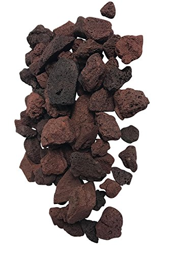 (2 Pounds of Red Lava Accent Rocks, 32 oz bag, Outdoor Decorative Stones for Craft Projects, Vase Fillers, Succulents, Cactus Pots, Terrarium Plants)