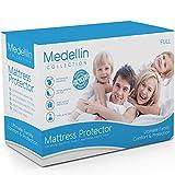 Waterproof Mattress Protector - Medellin Collection Premium Hypoallergenic Waterproof Full Mattress Protector - Vinyl Free