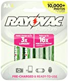 Rayovac Platinum Pre-Charged  NiMH AA Size Batteries, 4 Count