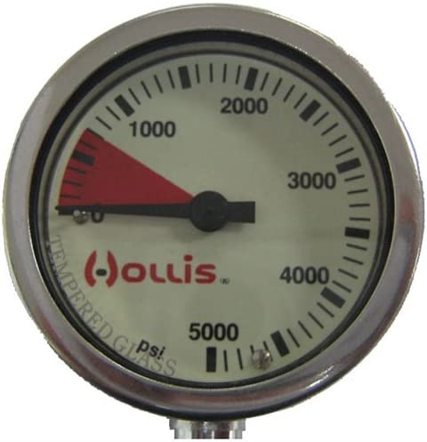 Hollis PRESSURE GAUGE MODULE BAR LOW PROFILE BLK-METAL W//O BOOT