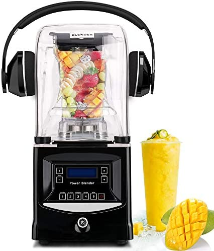 CARIHOME 1800W Commercial Blender Smoothie Maker Ice Crusher with 50oz Jar High Speed Countertop Blender Single Serve Personal Juicer blender for Shakes Smoothies