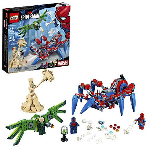 LEGO 6251075 Marvel Spider-Man's Spider Crawler 76114 Building Kit (418 Piece), Multicolor