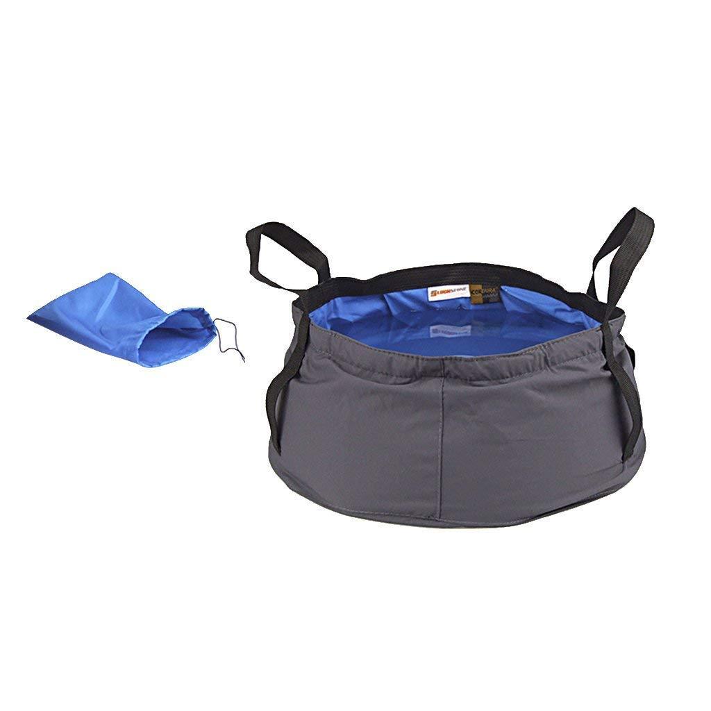 Deanyi Cubo 8.5L Bolsa de Agua Plegable para Equipaje en Plein Air Camping Picnic Rosa Rojo
