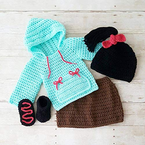 Crochet Vanellope Hat Beanie Shirt Hoodie Skirt Shoes Boots Wreck It Ralph Infant Newborn Baby Costume Photography Photo -